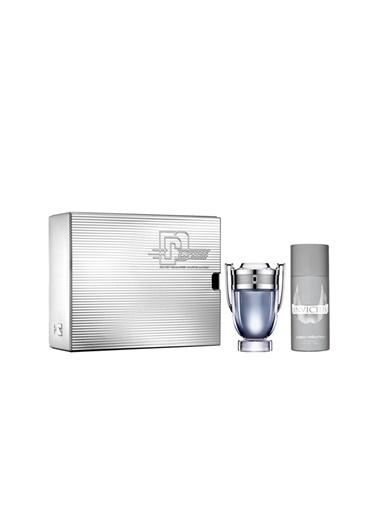 Paco Rabanne Invictus EDT 100 ml + 150 ml Deodorant Erkek Parfüm Seti  Renksiz